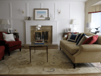 Brown And Cranberry Living Room