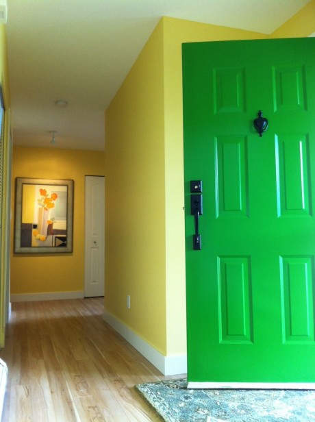 yellow kitchen rug commercial exhaust fans maria's kelly green front door - maria killam the true ...