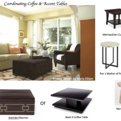 Wood Side Tables Living Room Cheap Sofas How To Coordinate Coffee Accent Like A Designer Maria Killam
