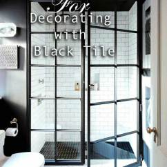 Penny Tile Backsplash Kitchen Bar Lights Do's & Don'ts For Decorating With Black - Maria ...