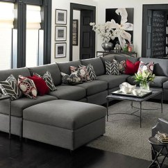 Images Of Living Rooms With Gray Couches Laminate Flooring Room 4 Ways To Decorate Around Your Charcoal Sofa Maria Killam The Red