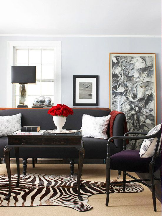 4 Ways to Decorate Around Your Charcoal Sofa  Maria
