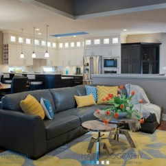 Should Area Rugs Match In Living Room And Dining Blue Wool Rug 4 Ways To Decorate Around Your Charcoal Sofa - Maria ...