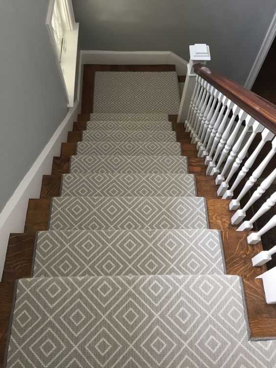 4 Steps To Choosing The Perfect Wall To Wall Carpet Colour   Grey Patterned Carpet For Stairs   Fitting Loop Pile Carpet   Room Matching Str*P   Middle Open Concept   Runners   Living Room