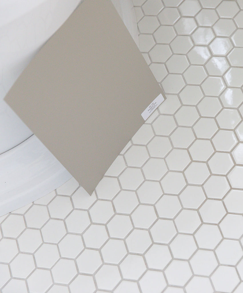 the best grout colour for white tile bathrooms