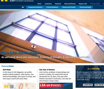 LSA Homepage screenshot