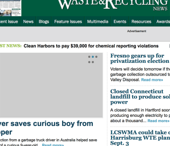 Waste & Recycling News website screenshot