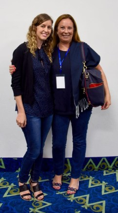 Con mi hija Rosario en la entrega de Premio Sagitario Novela 2017