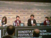 El director Hirokazu Kore-eda y los niños actores de Kiseki/I Wish (Japón), premio SINGNIS