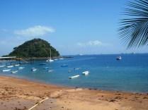 Puerto pesquero en la isla de Saboga