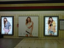 Gisele Bundchen in a comercial, all over the London tube these days