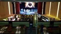 """El escenario desde el restaurante """"Arriba"""""""