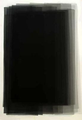 Joachim Bandau, n. 1936. Joachim Bandau. Acuarela, 152 x 101 cm. (2005).