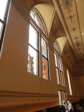 Windows and door.