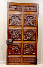 Wonderful, wonderful door! Part of that Elizabethan room, it depicts scenes from Greek and Roman mythology.