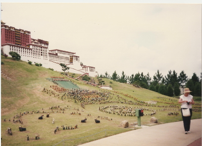 One of the protested exhibits was the Dalai Lama's palace in Tibet.