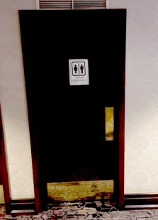 Unisex bathroom. I used this one almost every time, but I never saw any unicorns having sex. #WantMyMoneyBack