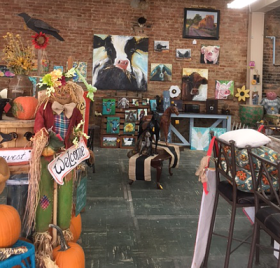 Local art and crafts.