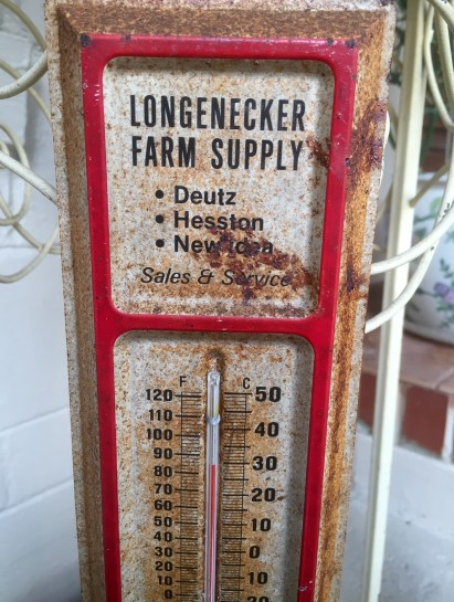 Temperature on our porch Christmas Day 2015, Jacksonville, FL: 85 degrees