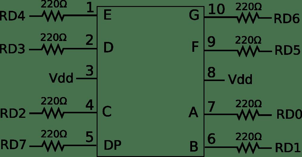 medium resolution of 7 segment led display schematic