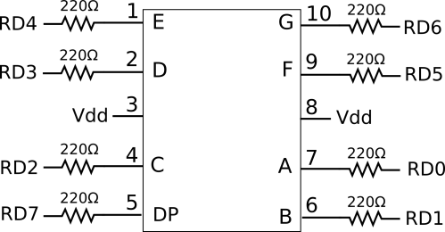 small resolution of 7 segment led display schematic