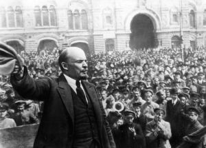 Lenin giving a speech