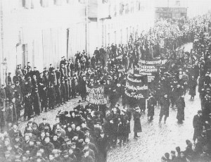 Massive protest in Petrograd