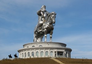 Statue of Genghis Khan in modern Mongolia