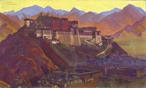 Roerich's painting of Pothala in Tibet