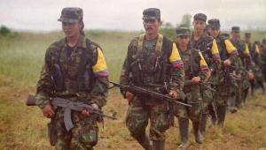 FARC rebels with AK-47 rifles