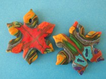 polymer clay narcissus pendants