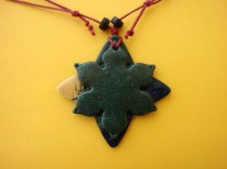 polymer clay narcissus pendant