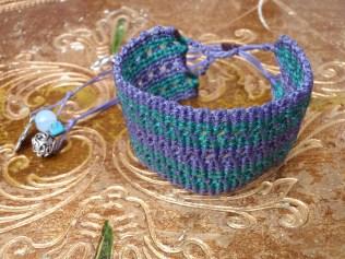 macrame bracelet malachite-ametista