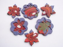 polymer clay pendants and earrings