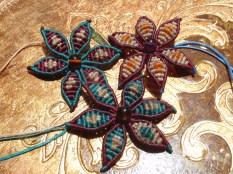 macrame flower bracelets