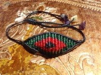 macrame eye bracelet