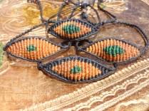 macrame eye bracelets