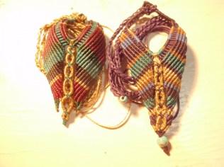 Macramé necklaces