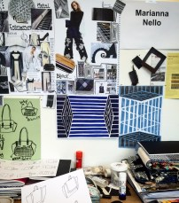 Working Space, Nello.M, Studio with moldboard and inspirations. (Feb. 2016)