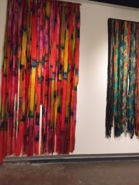 Marian Clayden textile art exhibited at Fashion and Textile Museum, London (March 2016).