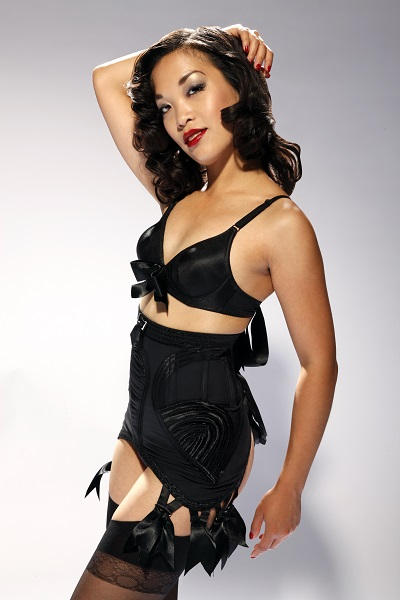 Marianne Cheesecake models beautiful vintage lingerie with a 1950s twist