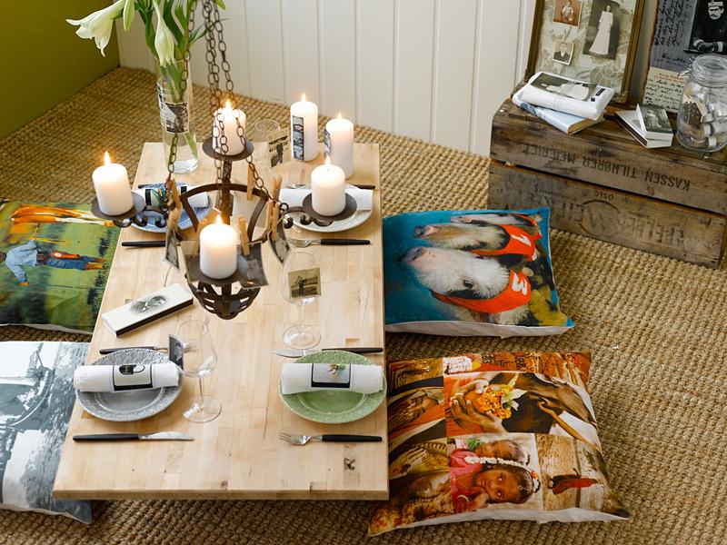 INTERIØRTIPS - BORDDEKKING: Dekk et kreativt bord med gamle fotografier