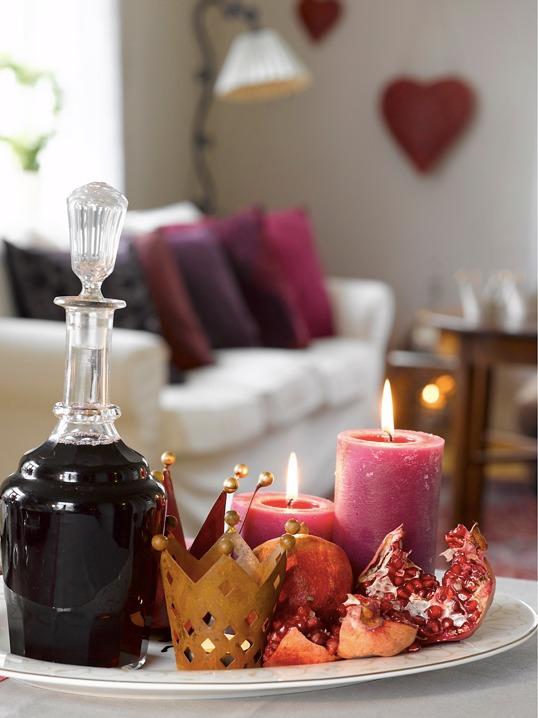 Lysfat på ingeniørfruens vinrøde festbord