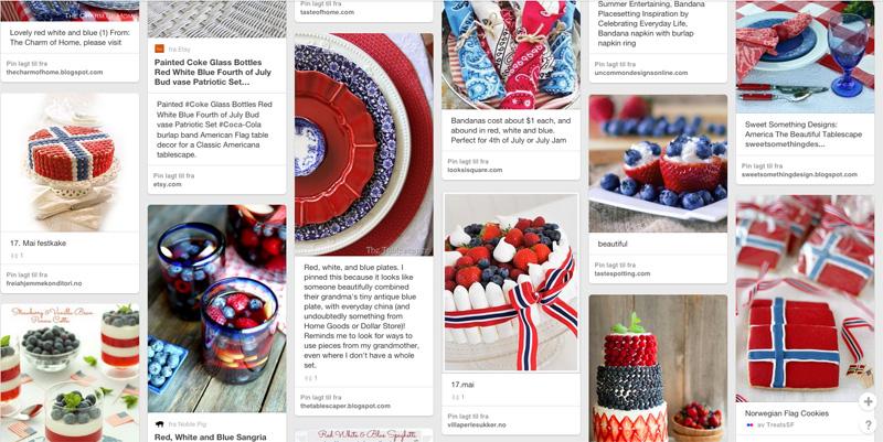 Blomster, bord, mat og pynt i nasjonalfargene – mer enn 100 tips!
