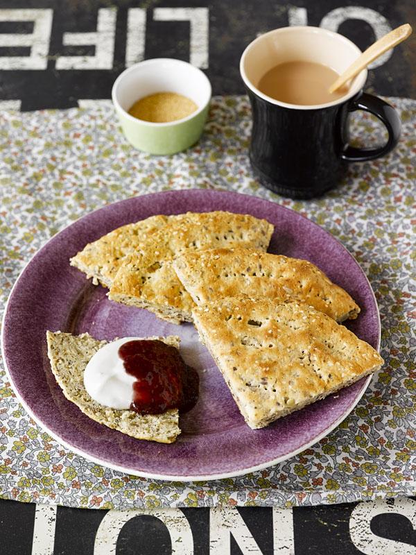Idemagasinets oppskrift på lavkarbo scones av brødmix
