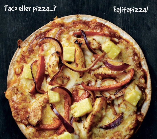 Oppskrift på Pineapple fajita pizza