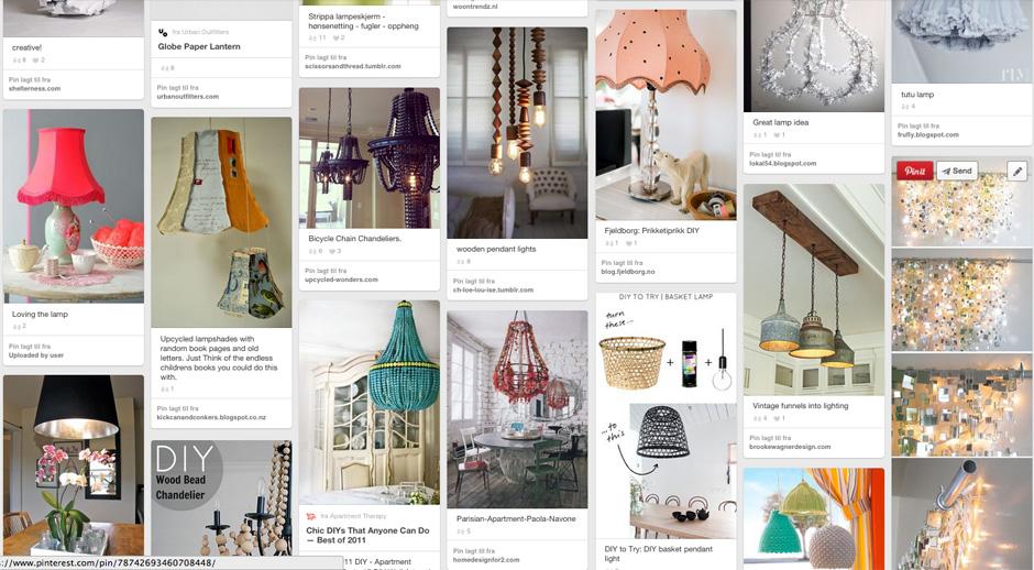 Lamper - gjørLamper - gjør det selv - ideer fra Pinterestdet selv - ideer fra Pinterest