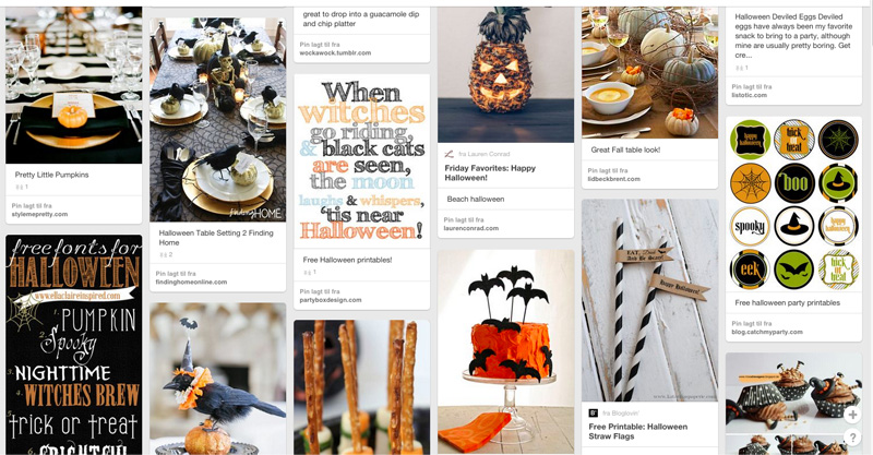 Halloween-inspirasjon på Pinterest