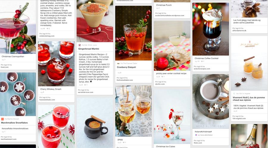 Julecocktails og drinker til inspirasjon på Pinterest