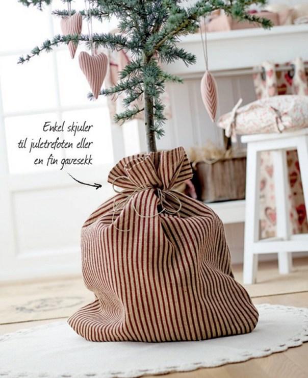 19 Sy selv juletrefot eller gavesekk Foto Stoff & Stil